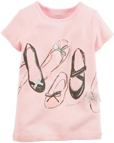 Carter's Graphic Tee (Toddler/Kid) - Ballet Shoes-5