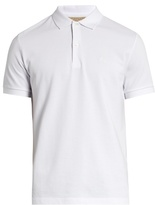 Burberry Oxford Logo-embroidered Cotton Polo Shirt