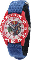 Marvel Captain America Boys Blue and Red Strap Watch