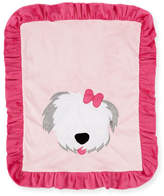 Boogie Baby Pup Love Plush Baby Blanket, Pink