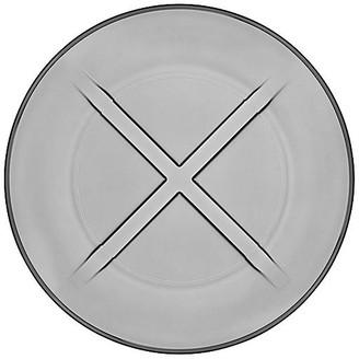 Kosta Boda Bruk Salad Plate - Smoke Gray