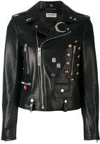Saint Laurent studded biker jacket - women - Lamb Skin - 40