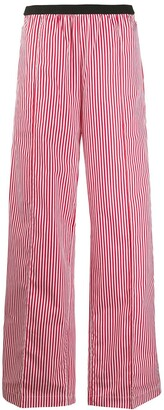 Plan C Striped Wide-Leg Trousers