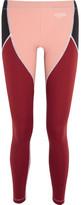 Fendi Paneled Stretch-jersey Leggings - Merlot