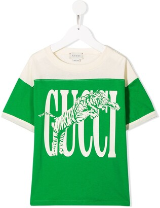 Gucci Kids tiger print T-shirt