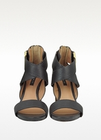 Rachel Zoe Brooklyn Black Leather Sandal