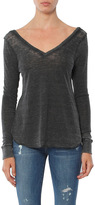 Chaser Triblend Double V Long Sleeve Shirttail Tee