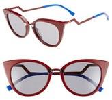 Fendi Women's 52Mm Cat Eye Sunglasses - Opal/ Pink