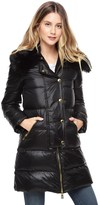 Juicy Couture Puffer Coat W Faux Fur Collar