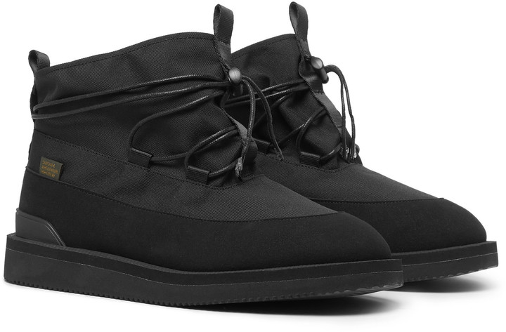 Suicoke Aime Leon Dore Hobbs Faux Shearling-Lined CORDURA and PU Boots - Men - Black