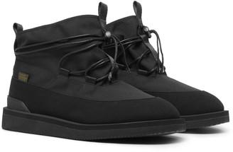 Suicoke Aime Leon Dore Hobbs Faux Shearling-Lined CORDURA and PU Boots - Men - Black