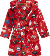 Hatley Christmas print dressing gown s-xl
