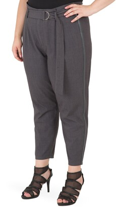Standards & Practices Marina Belted Paperbag Waist Trousers