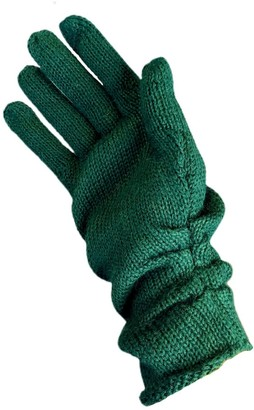 Graciela Huam Palabra Alpaca Gloves - Green