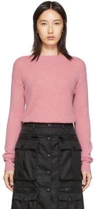 Prada Pink Cashmere Crewneck Sweater