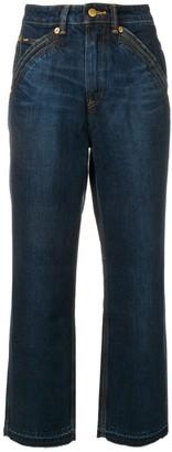Self-Portrait X Lee straight leg jeans