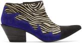 Haider Ackermann Black & White Zebra Hulan Boots
