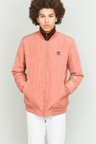 Adidas Originals Ff Raw Pink Quilted Bomber Jacket
