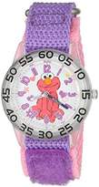 EWatchFactory Girl's 'Sesame Street' Quartz Plastic and Nylon Automatic Watch, Color:Purple (Model: W003209)