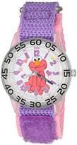 EWatchFactory Girl's 'Sesame Street' Quartz Plastic and Nylon Watch, Color:Purple (Model: W003209)
