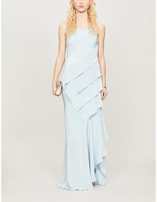 Max Mara Curzio draped-panel silk gown