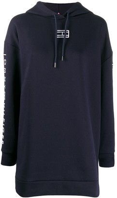 Tommy Hilfiger Logo Hooded Sweatshirt dress