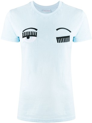 Chiara Ferragni embroidered eyes T-shirt