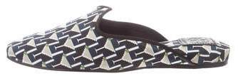 Tory Burch Printed Pointed-Toe Mules