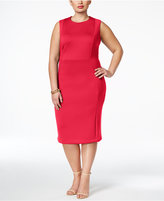 Calvin Klein Plus Size Scuba Seamed Sheath Dress