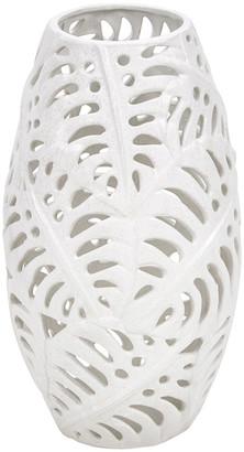 Sagebrook Home Ceramic Fern Cutout Vase