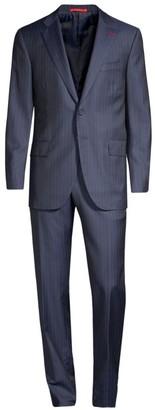 Isaia Regular-Fit Pinstripe Wool Suit