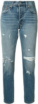 Levi's distressed straight-leg jeans - women - Cotton - 27