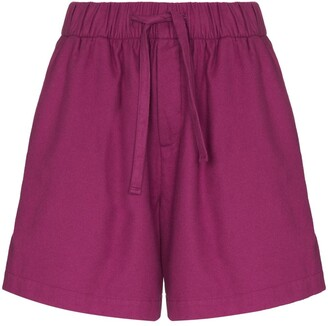 Tekla Wide-Leg Cotton Pajama Shorts