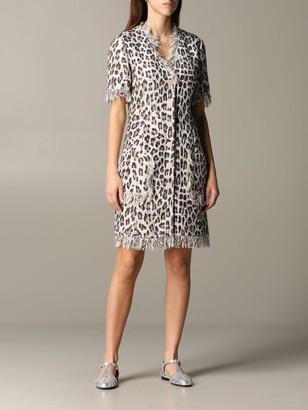 Blumarine Dress Dress In Animal Print Lurex Mat