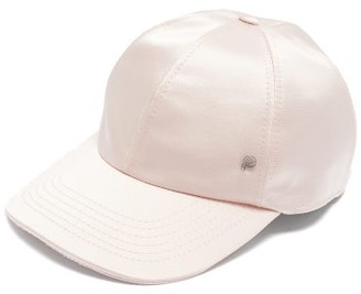 Maison Michel Tiger Silk-blend Satin Baseball Cap - Pink