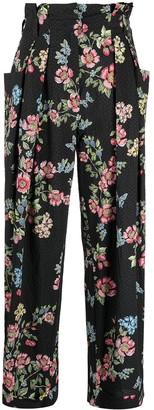VIVETTA High-Waist Floral Print Trousers