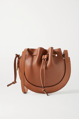 Loewe Horseshoe Leather Shoulder Bag - Tan
