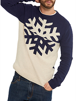 Joules Snowflake Knit Jumper, Navy