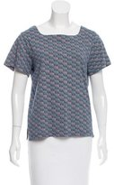 A.P.C. Abstract Patterned Short Sleeve Top
