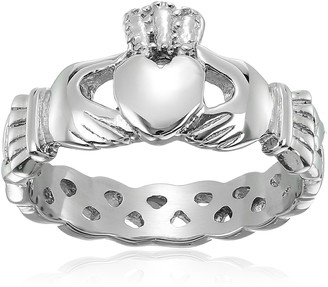 Celtic ELYA Jewelry Womens Stainless Steel Claddagh with Knot Promise Ring