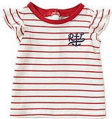 Ralph Lauren Baby Girls 3-24 Months Nautical Striped Flutter Short-Sleeve Tee