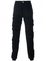 Hood by Air canvas shredded pants