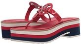 Tory Burch Miller 60 mm Platform Sandal (Brilliant Red) Women's Shoes