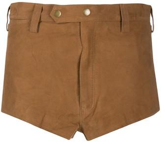 Mes Demoiselles Chilli mid-rise suede shorts