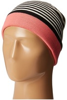 Kate Spade Color Block Stripe Reversible Beanie Beanies