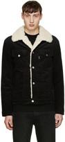 MAISON KITSUNÉ Black Corduroy Sherpa Jacket