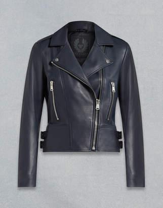 Belstaff Marvingt 2.0 Leather Jacket navy UK 8 /