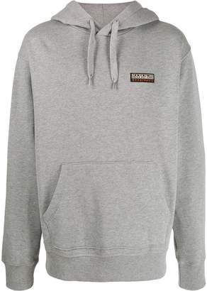 Napapijri logo detail hoodie