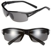 Nike Men's 'Show X2' Semi Rimless 69Mm Sunglasses - Black