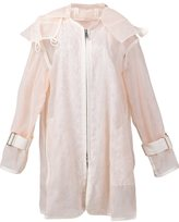 Sacai transparent oversized jacket - women - Polyester - 2